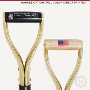 Groundbreaking Ceremonial Shovel Kit - Specialty Gold Plated D-Handle - Full Color Direct Printed Handle