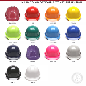 Groundbreaking Hard Hat - Flat Front - Ratchet Suspension Color Options