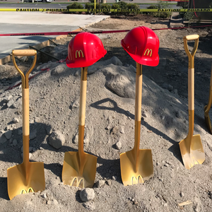 Groundbreaking Hard Hat - Flat Front - McDonalds Groundbreaking Photo