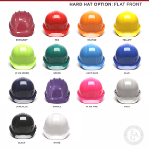 Hard Hat Options - Flat Front