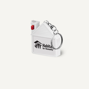 House Shaped Tape Measure Keychain