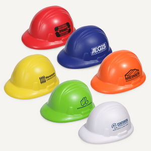 Miniature Hard Hat Stress Reliever