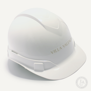 Round Front Hard Hat with Front Vinyl Decal