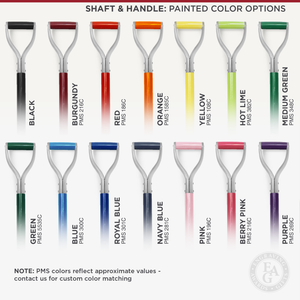 Silver Finish Groundbreaking Shovel - D-Handle - Painted Color Options