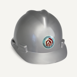 Silver Finish Groundbreaking Hard Hat
