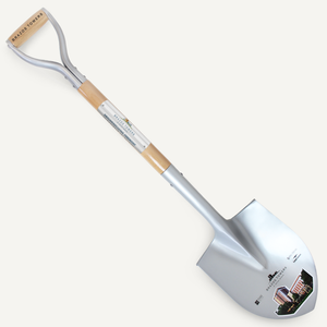 Silver Finish Groundbreaking Shovel - D-Handle