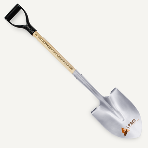 Silver Painted Groundbreaking Shovel - Black Handle