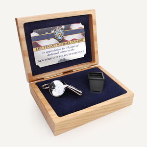 Silver Whistle Award with Custom Police Officer Engraving