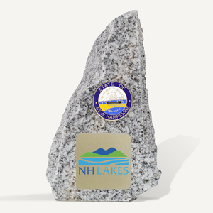 6in New Hampshire Granite Award with Brushed Gold Full Color Printed Plate