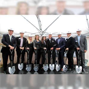Specialty Chrome Plated Groundbreaking Shovel - D-Handle - Biletnikoff Foundation Groundbreaking Ceremony Photo