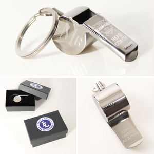 Stainless Steel Whistle Keychain