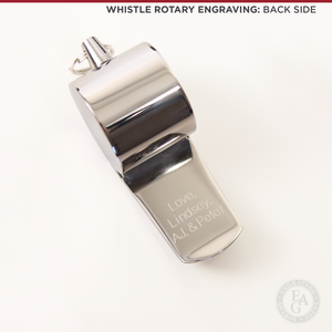 Engraved Silver Stainless Steel Whistle