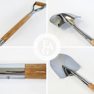 Traditional Chrome Plated Groundbreaking Shovel - D-Handle - Quality Collage