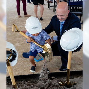 Traditional Gold Plated Groundbreaking Shovel - D-Handle - Gulfstream Groundbreaking Photo