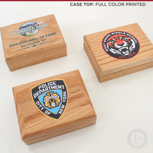 Whistle Awards with Color Logo Imprint on Case