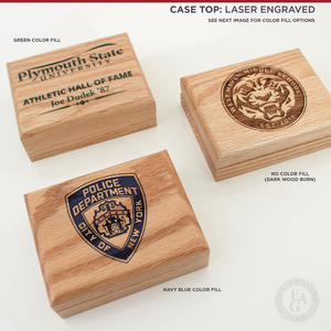 Whistle Awards with Laser Engraved Logo Imprint on Case