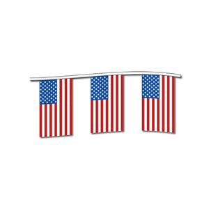 American Flag Cloth Pennants