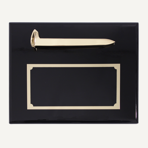 Gold Plated Ceremonial Spike Plaque