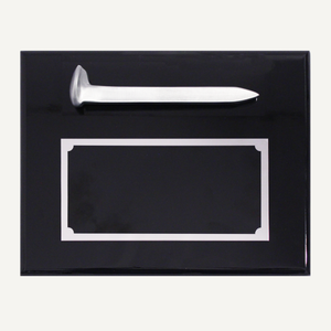 Satin Silver Ceremonial Spike Plaque