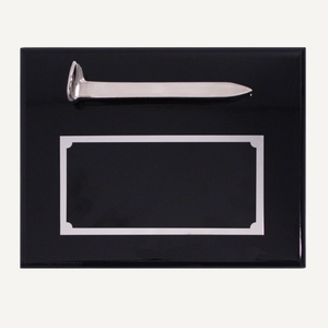 Silver Plated Ceremonial Spike Plaque