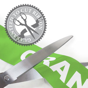 "36"" Lime Green Ribbon Cutting Scissors with Silver Blades"