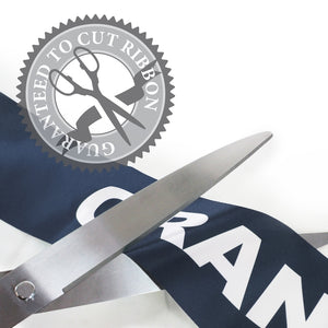 "25"" Navy Blue Ribbon Cutting Scissors with Silver Blades"