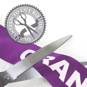 "25"" Purple Ribbon Cutting Scissors with Silver Blades"