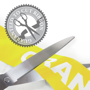 "36"" Yellow Ribbon Cutting Scissors with Silver Blades"