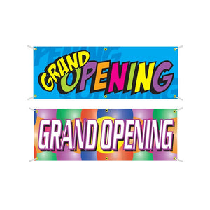 Multi-Color Grand Opening Banners
