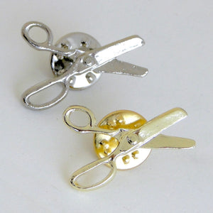 Presentation Cards with Scissors Lapel Pins
