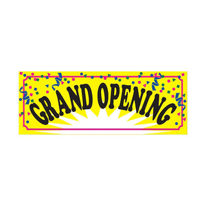 Grand Opening Confetti Banner