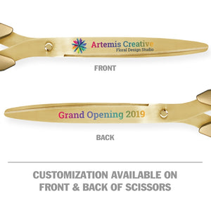 "25"" Gold Ribbon Cutting Scissors with Gold Blades"