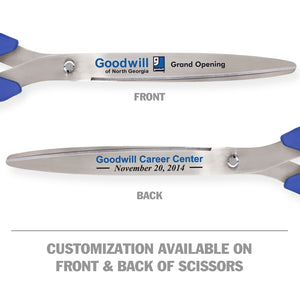 "36"" Blue Ribbon Cutting Scissors with Silver Blades"