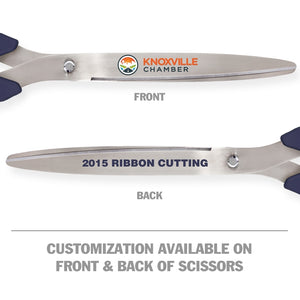 "36"" Navy Blue Ribbon Cutting Scissors with Silver Blades"