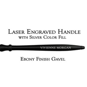 Laser Engraved Handle with Silver Color Fill