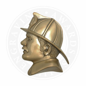Large Fireman's Head Metal Casting