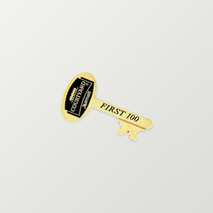 Gold Key Lapel Pins - Custom Printed