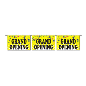 Grand Opening Confetti Pennants
