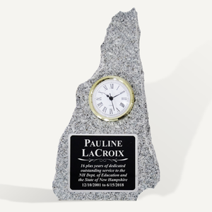 "12"" New Hampshire Granite Clock Award"