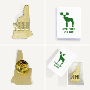 New Hampshire State Gold Pin