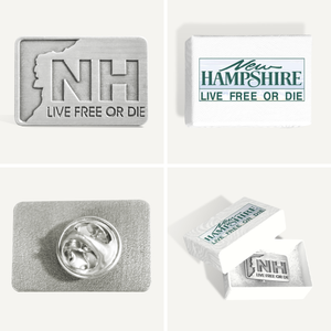 New Hampshire Rectangle Live Free or Die Pin