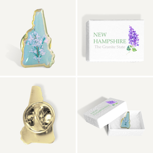 New Hampshire State Lilac Pin