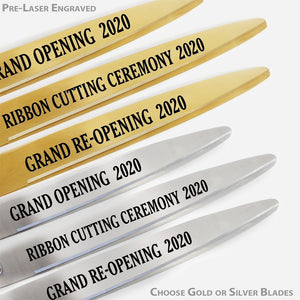 "Deluxe Grand Opening Kit - 36"" Ceremonial Scissors with Gold Blades"