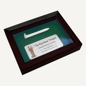Satin Silver Ceremonial Spike Display Case