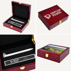 Satin Silver Ceremonial Spike Piano Finish Presentation Case