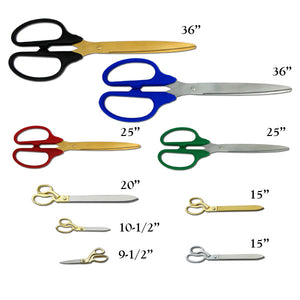 "10-1/2"" Ceremonial Ribbon Cutting Scissors"
