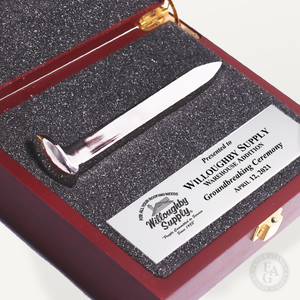 Silver Plated Ceremonial Spike Presentation Case