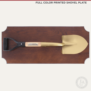 Small Shovel Plaque Full Color Printed Shovel Plate