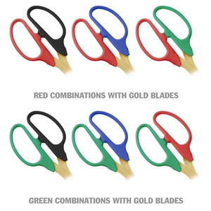 "25"" Two-Color Handle Ribbon Cutting Scissors with Gold Blades"