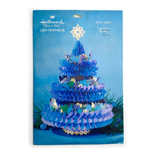 Load image into Gallery viewer, Vintage Hallmark Blue Pine Tree Centerpiece